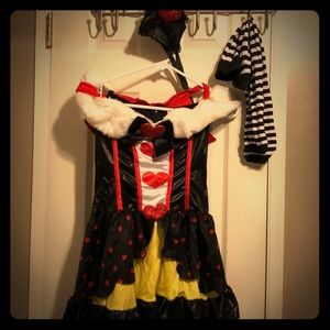 Queen of Hearts Halloween Costume xsmall